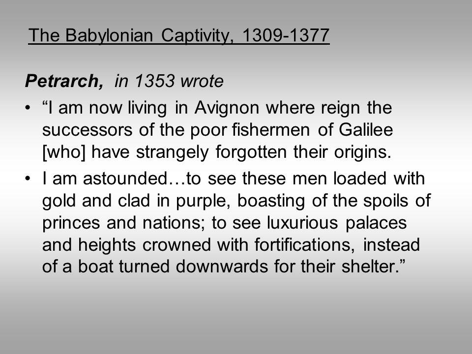 The Babylonian Captivity, 1309-1377