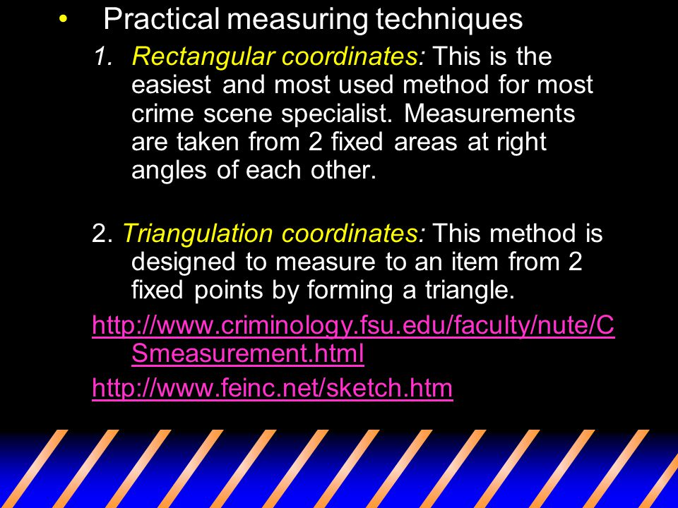 Practical measuring techniques