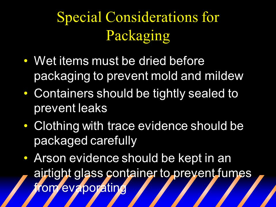 Special Considerations for Packaging