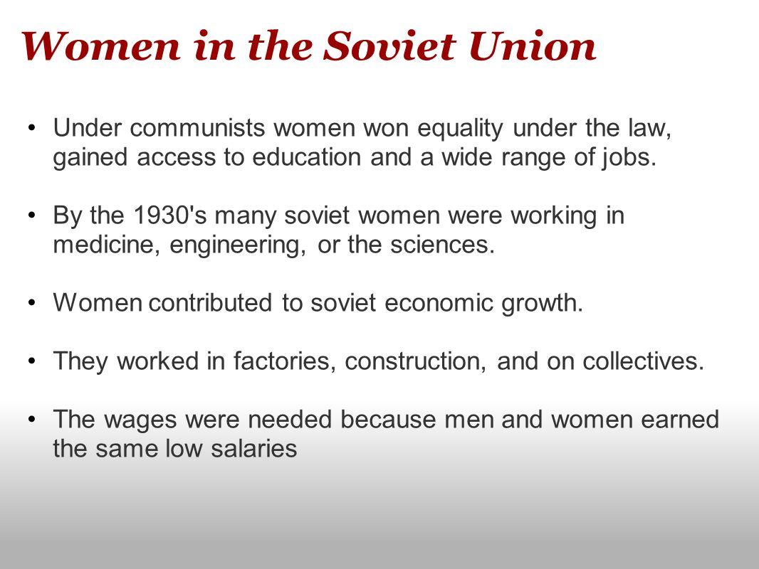Women in the Soviet Union