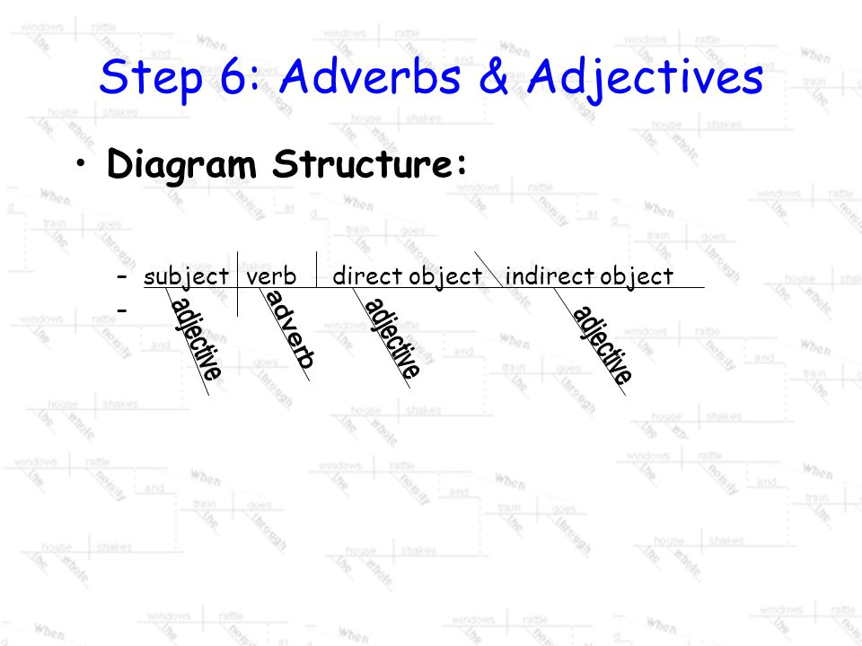 Step 6: Adverbs & Adjectives