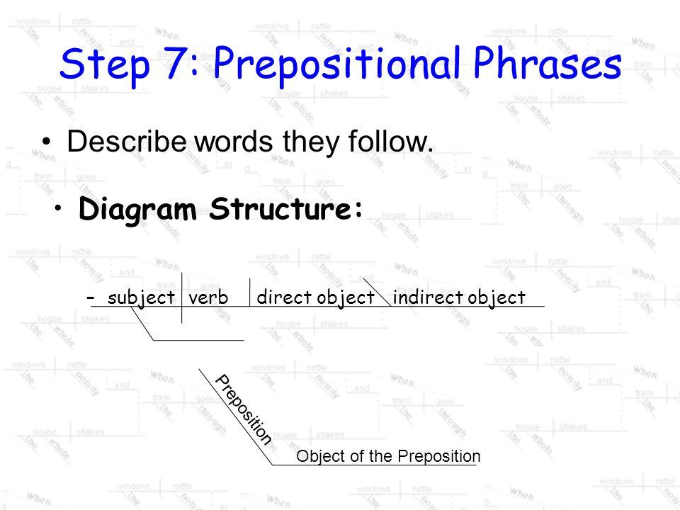 Step 7: Prepositional Phrases