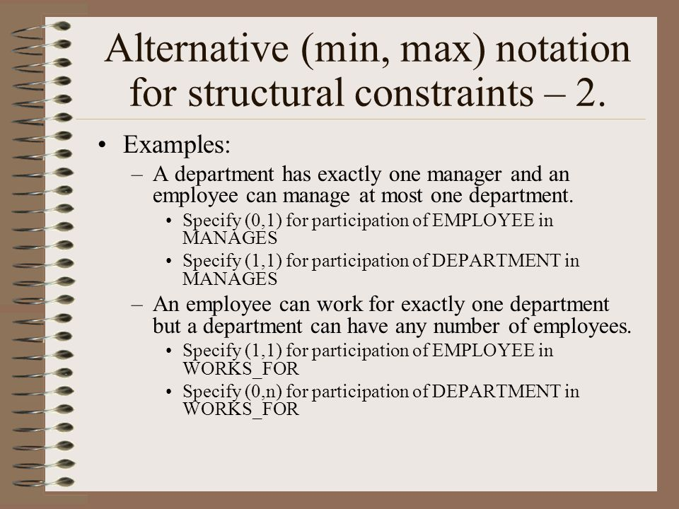 Alternative (min, max) notation for structural constraints – 2.