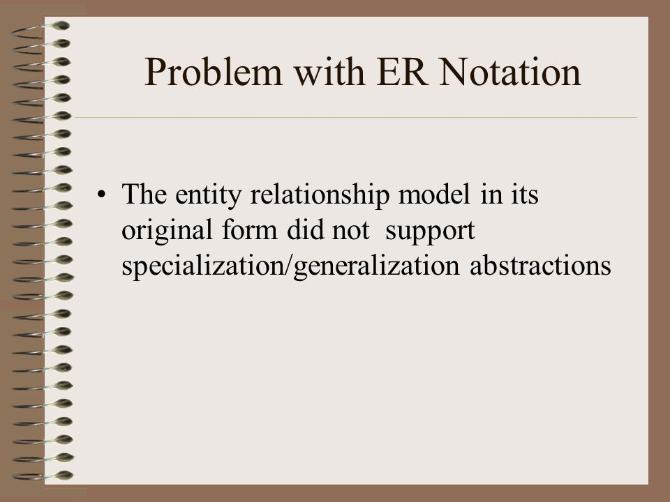 Problem with ER Notation