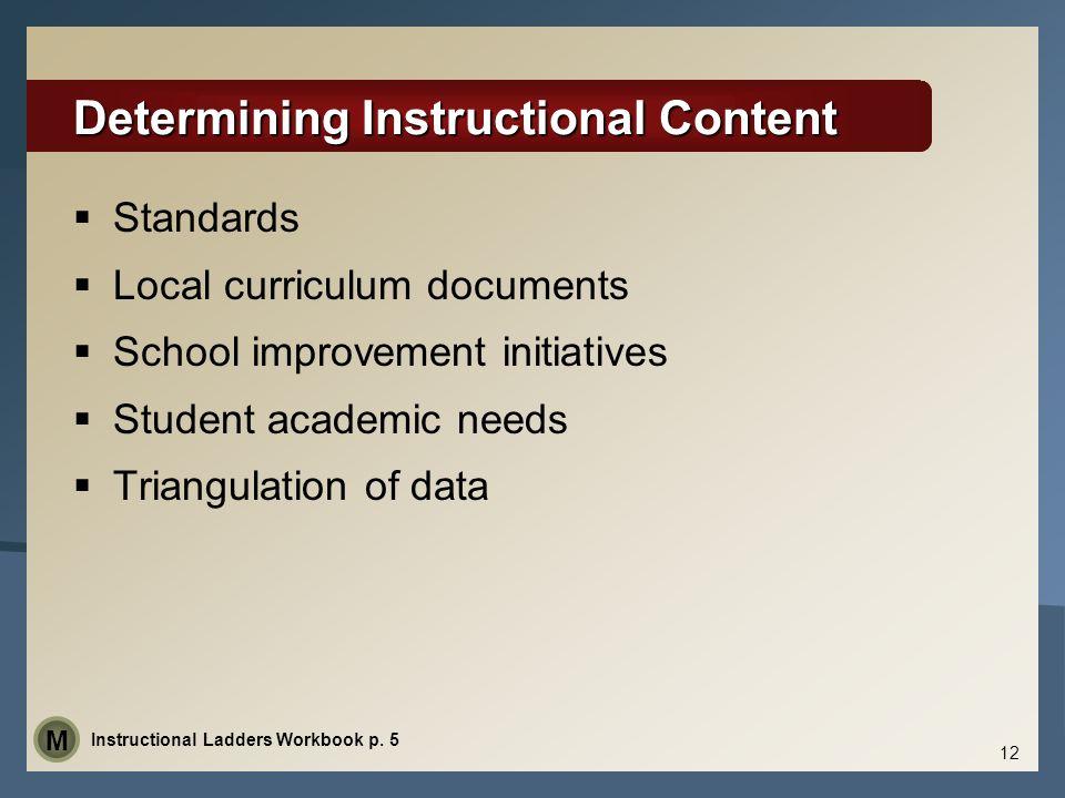 Determining Instructional Content