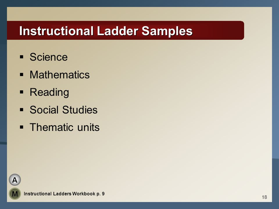 Instructional Ladder Samples