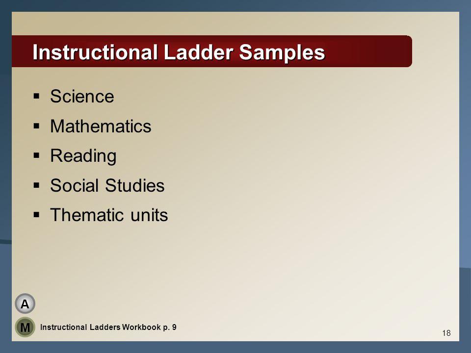 Instructional Ladder Samples