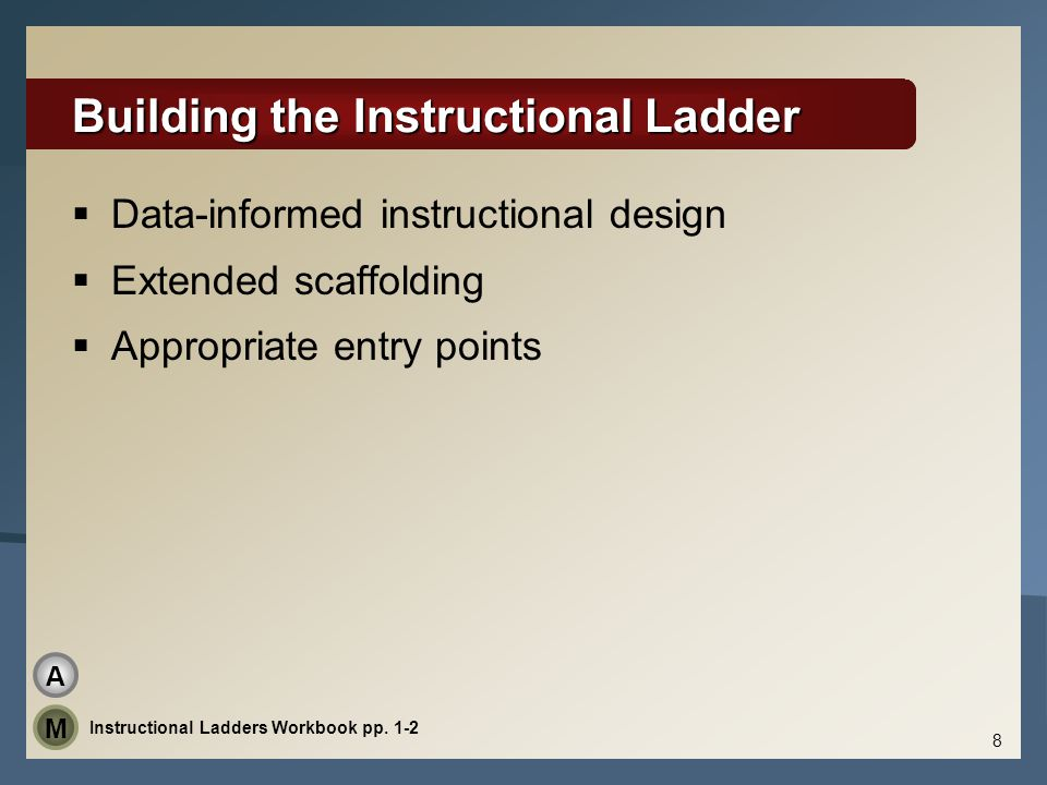 Building the Instructional Ladder
