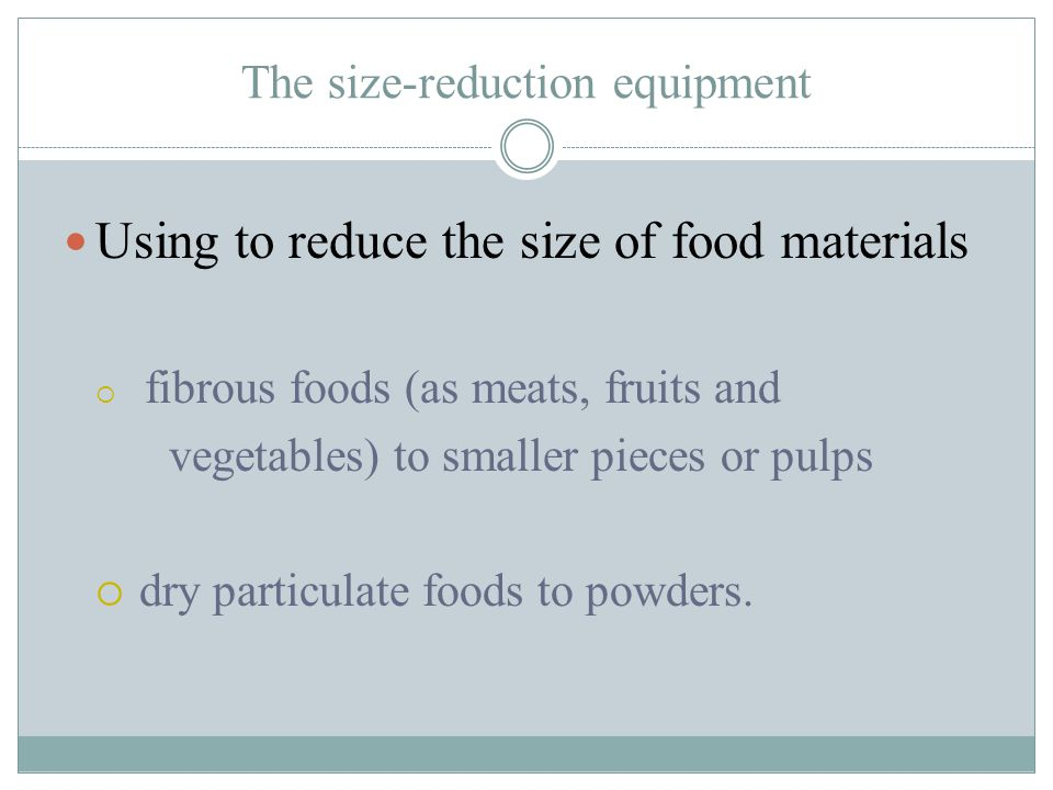 The size-reduction equipment
