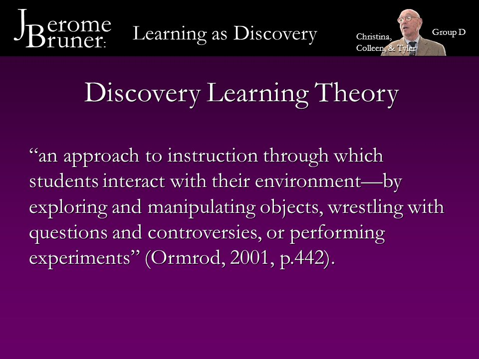 Discovery Learning Theory