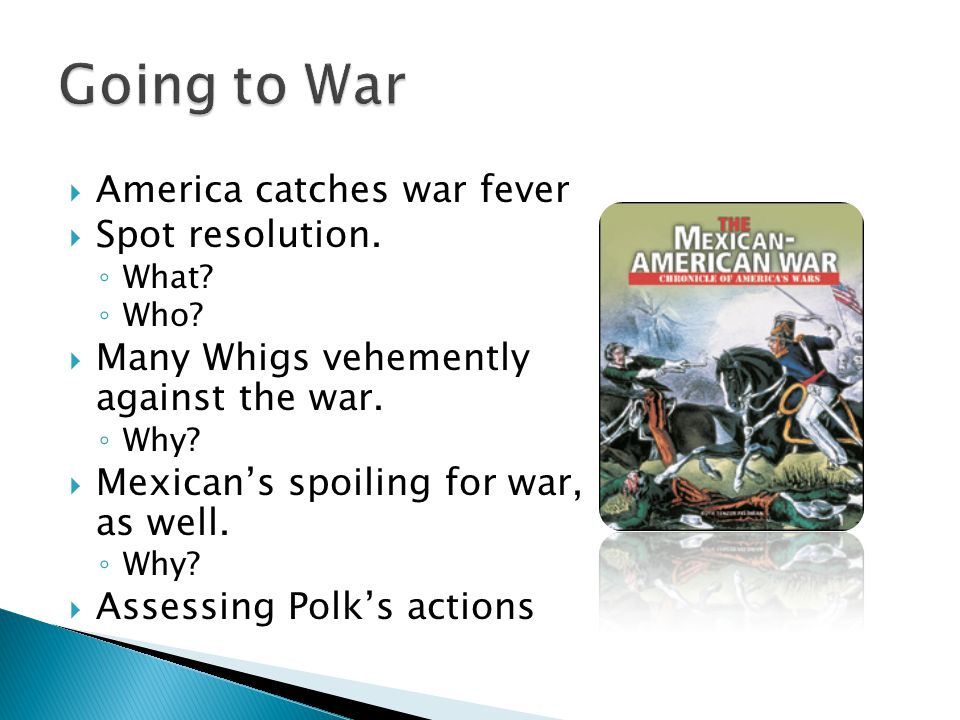Going to War America catches war fever Spot resolution.