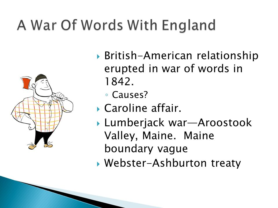 A War Of Words With England