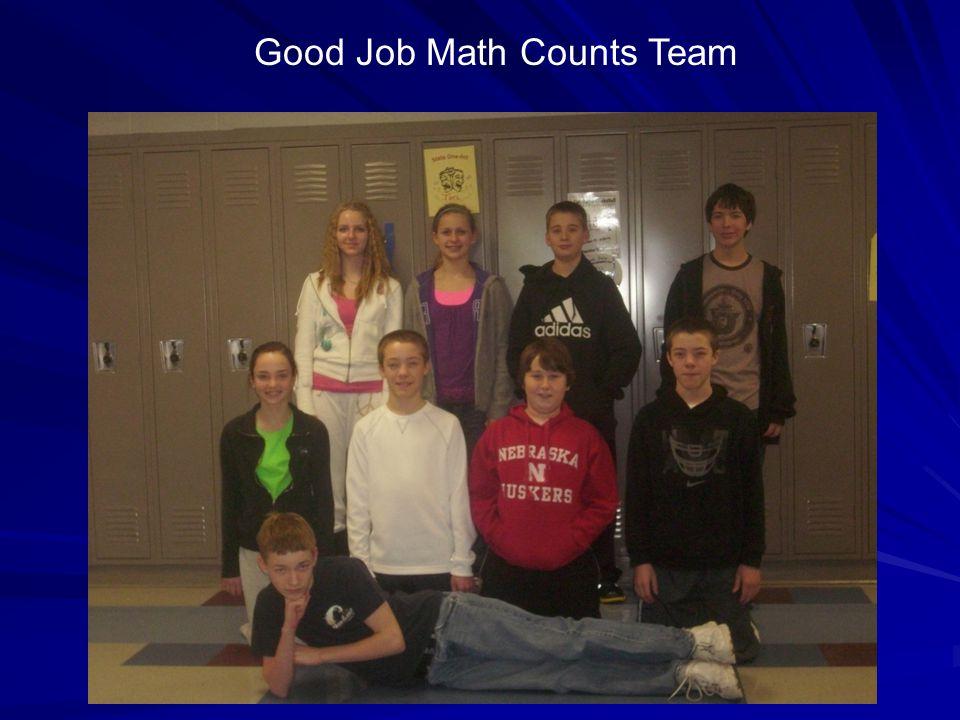 Good Job Math Counts Team
