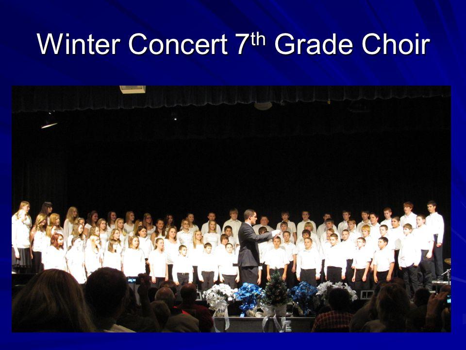 Winter Concert 7th Grade Choir