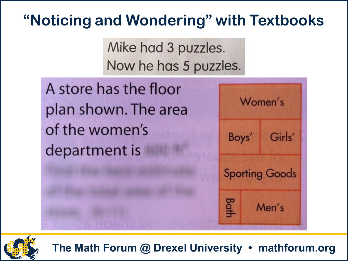 Noticing and Wondering with Textbooks