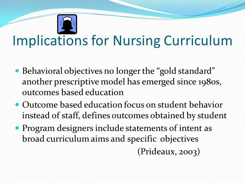 Implications for Nursing Curriculum
