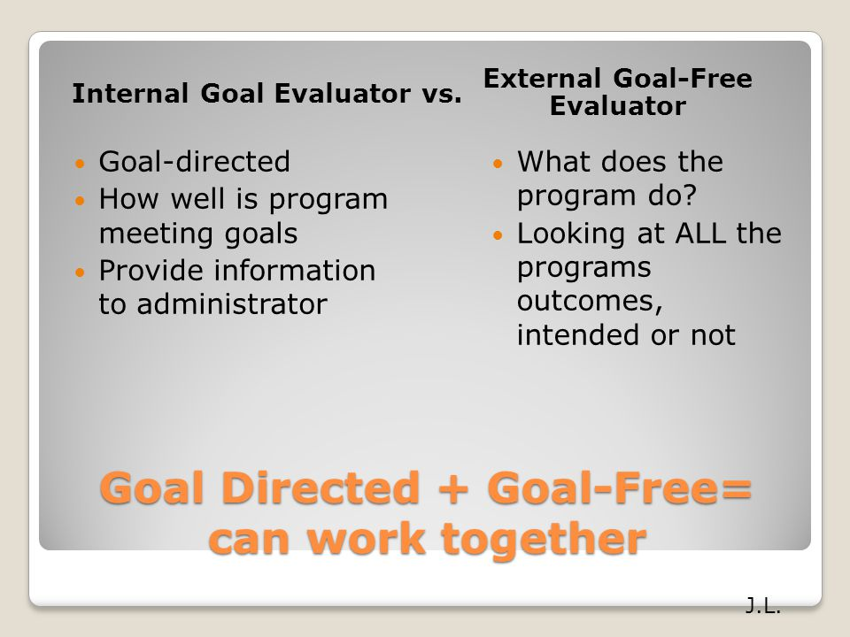 Goal Directed + Goal-Free= can work together
