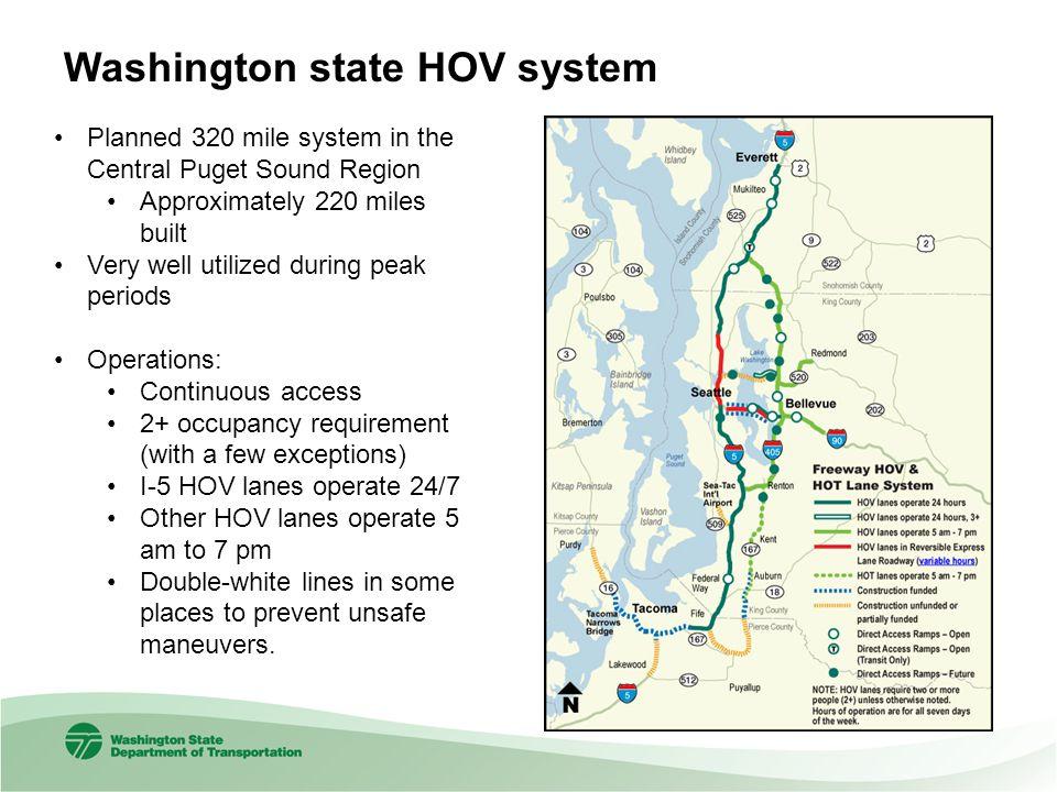 Washington state HOV system