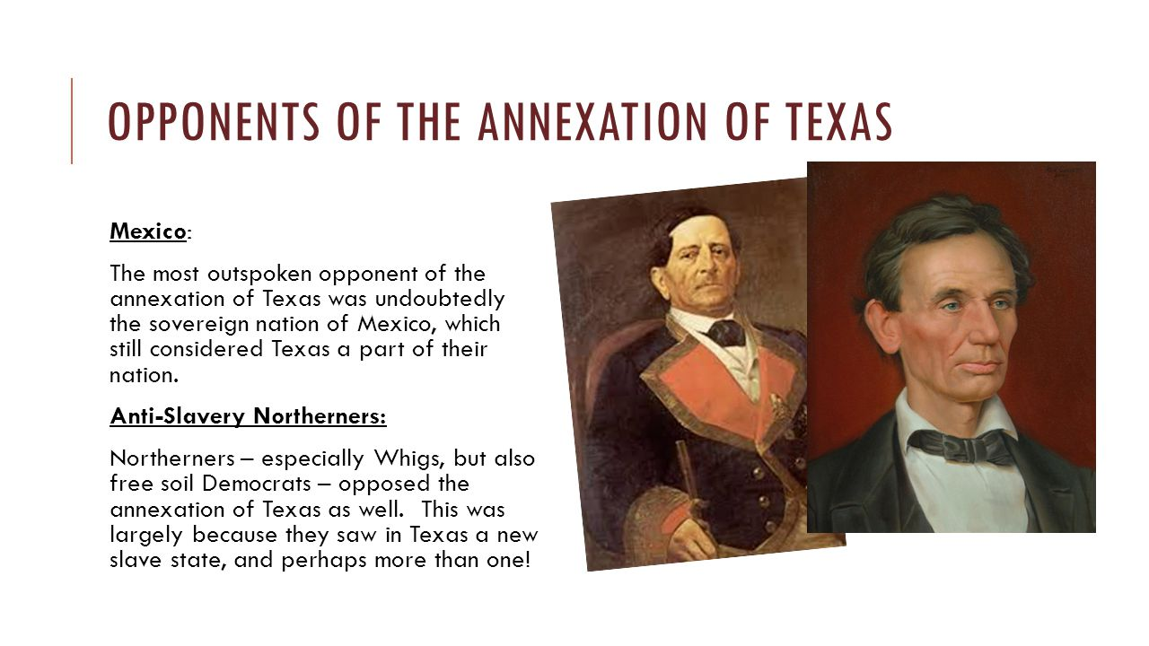 Opponents of the Annexation of Texas