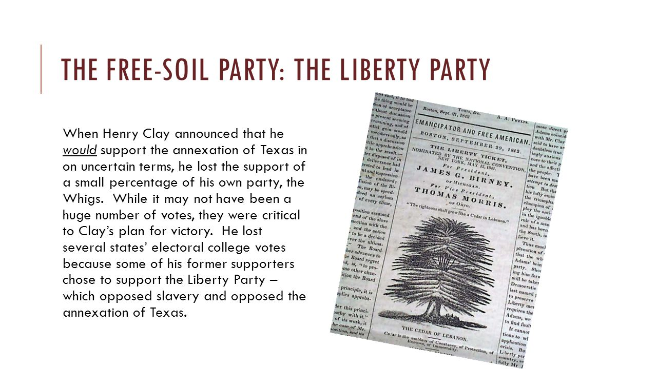The free-soil party: The Liberty party