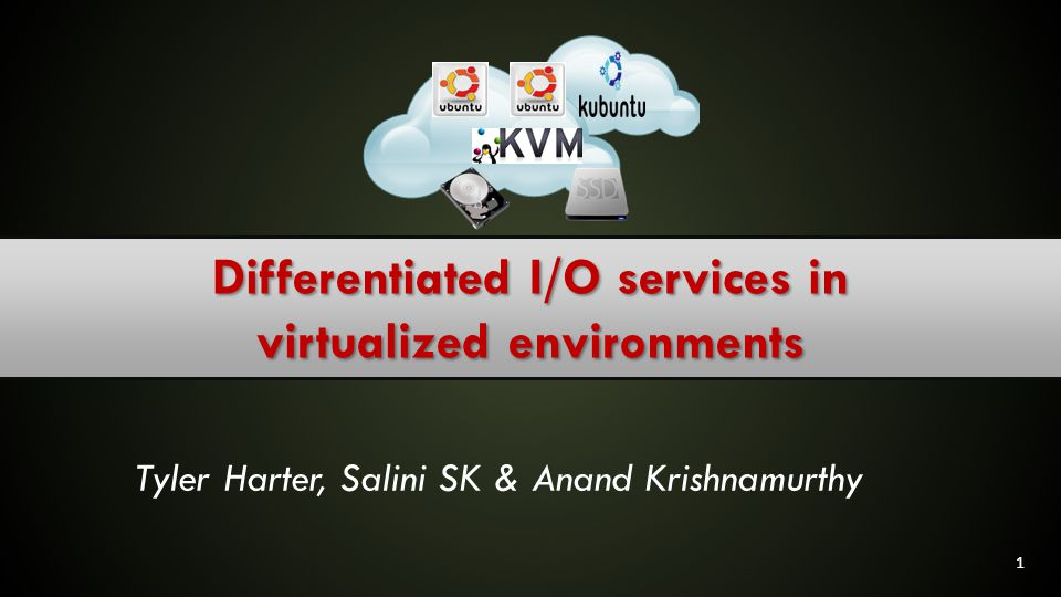 Differentiated I/O services in virtualized environments