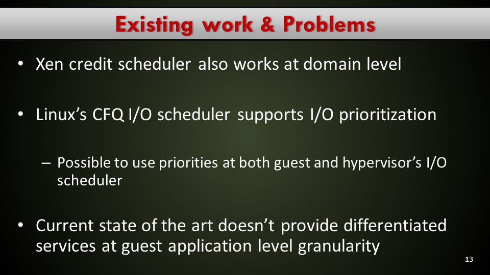 Existing work & Problems