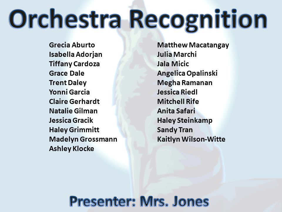 Orchestra Recognition