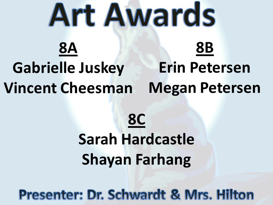 Presenter: Dr. Schwardt & Mrs. Hilton