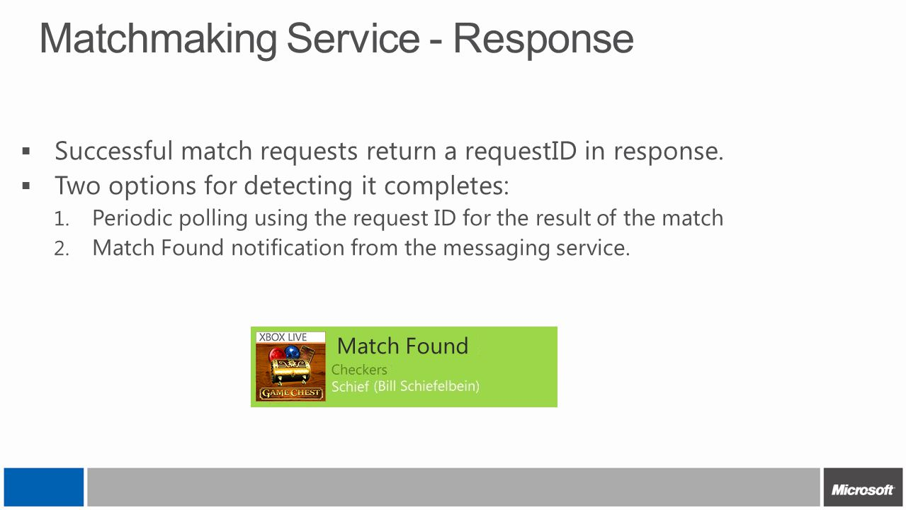 Matchmaking Service - Response