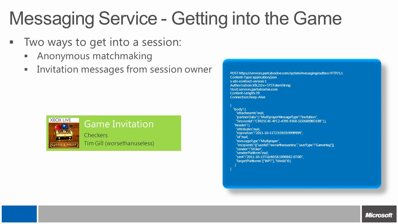 Messaging Service - Getting into the Game