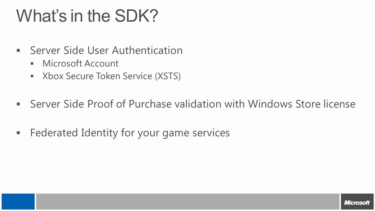 What's in the SDK Server Side User Authentication