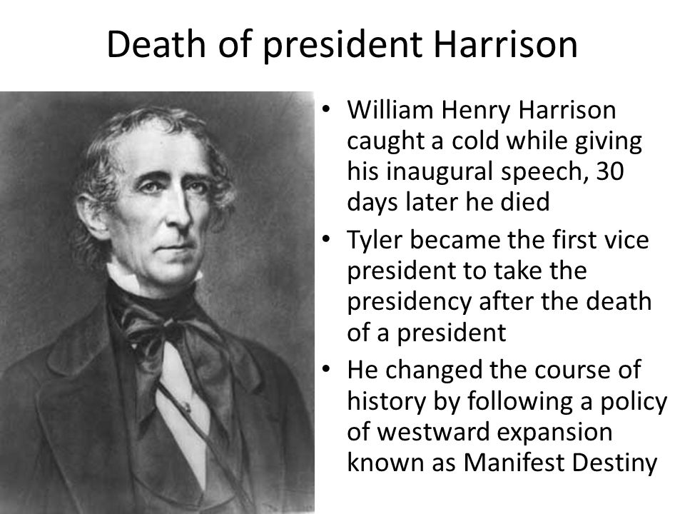 Death of president Harrison