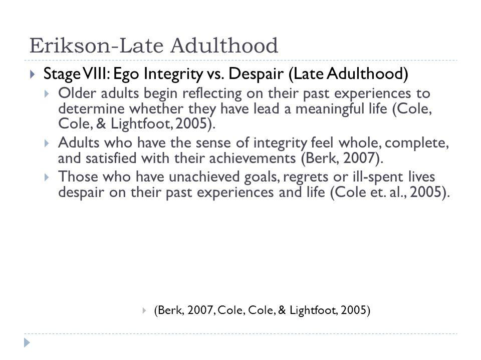 Erikson-Late Adulthood