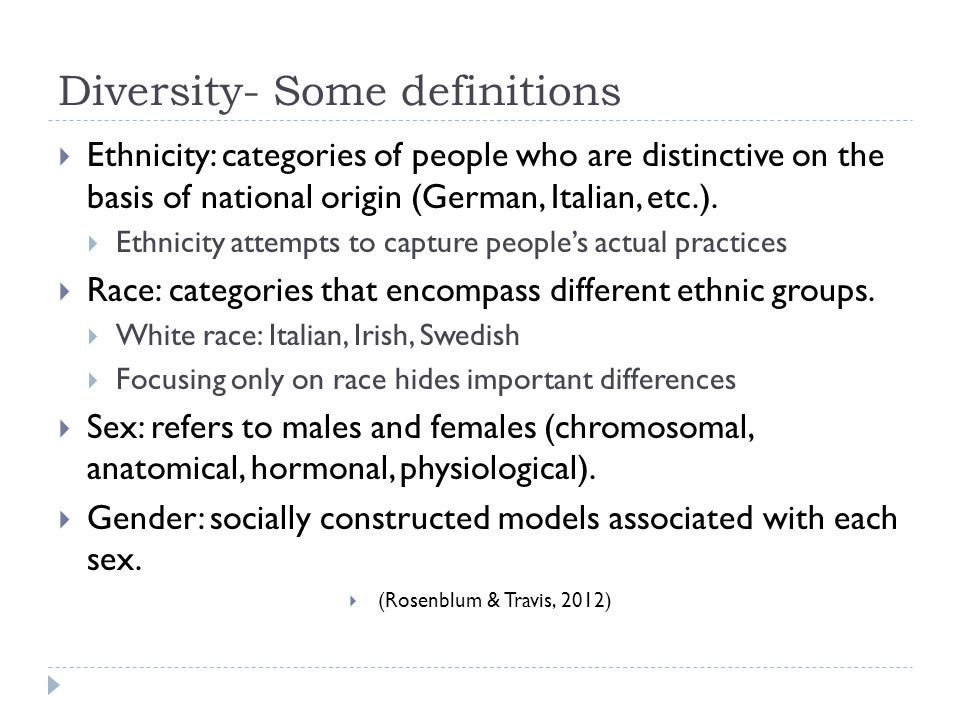 Diversity- Some definitions