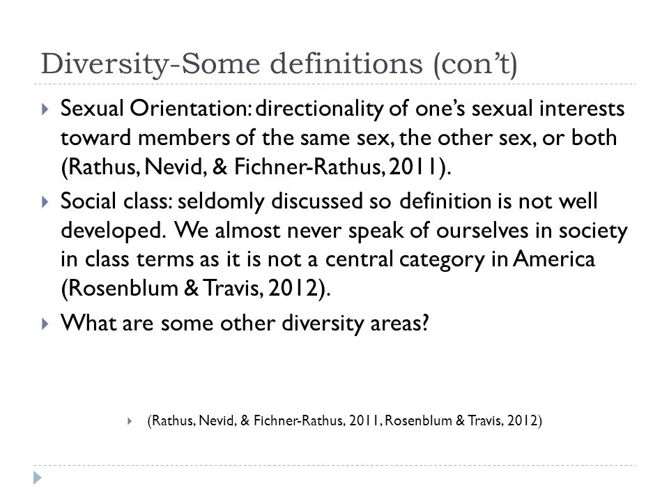 Diversity-Some definitions (con't)