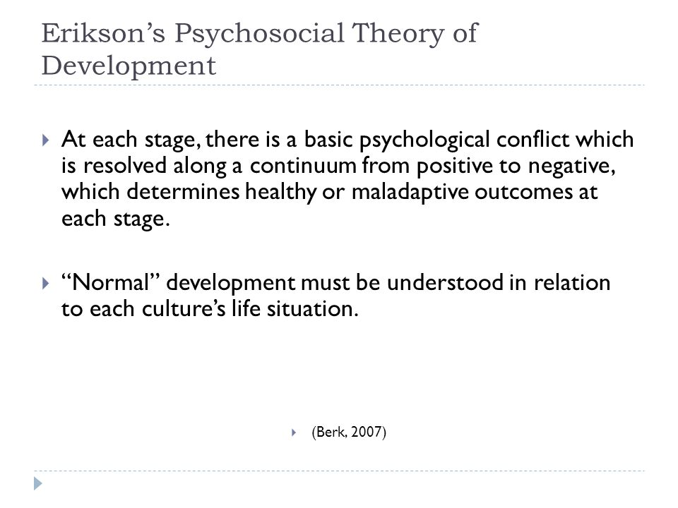 Erikson's Psychosocial Theory of Development