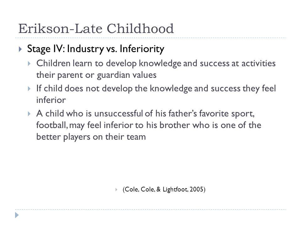 Erikson-Late Childhood