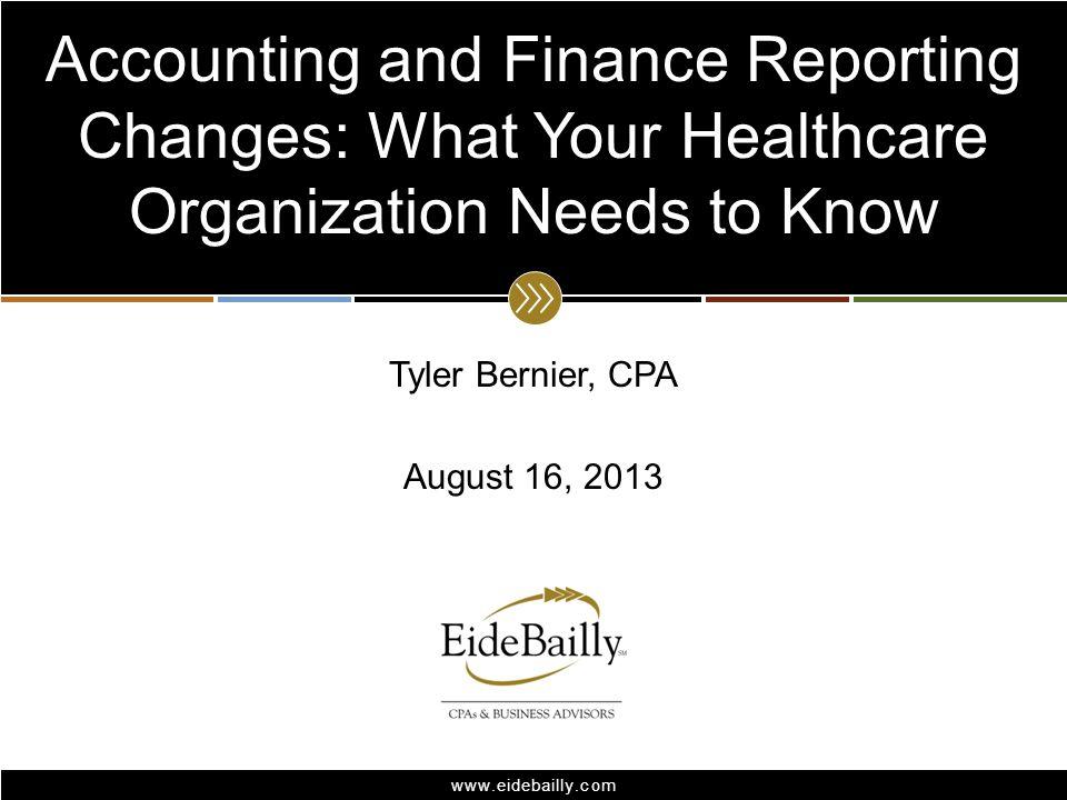 Tyler Bernier, CPA August 16, 2013