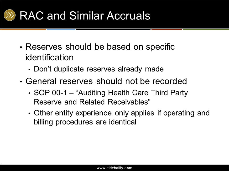 RAC and Similar Accruals
