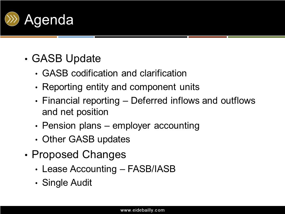 Agenda GASB Update Proposed Changes