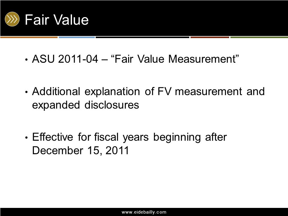 Fair Value ASU 2011-04 – Fair Value Measurement