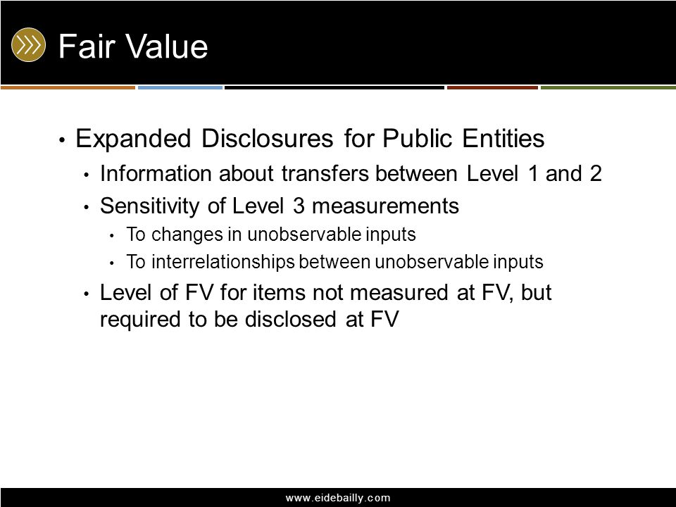 Fair Value Expanded Disclosures for Public Entities