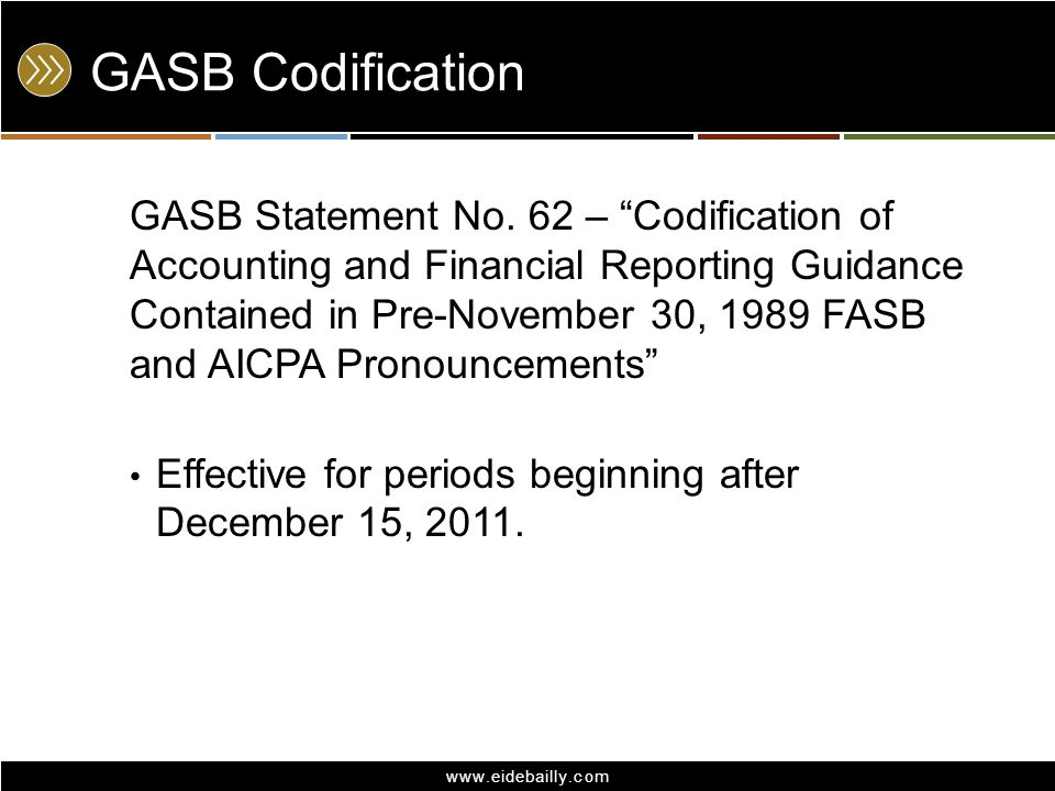 GASB Codification