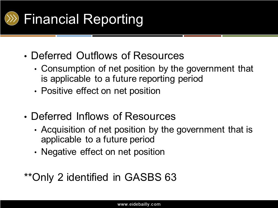 Financial Reporting Deferred Outflows of Resources