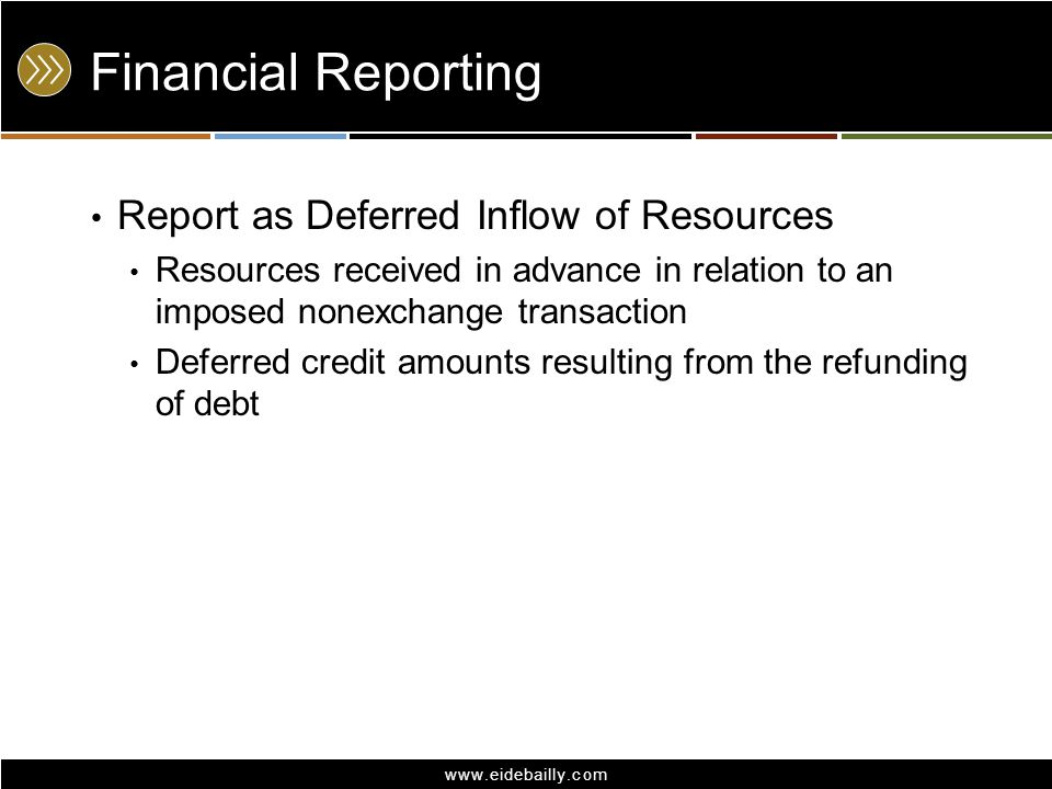 Financial Reporting Report as Deferred Inflow of Resources