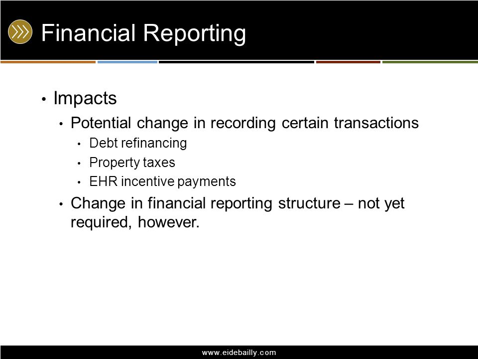 Financial Reporting Impacts