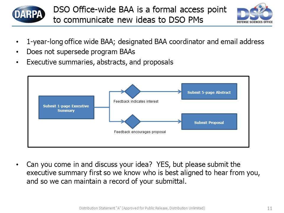 Submit 1-page Executive Summary