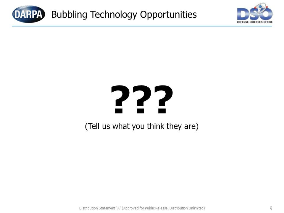 Bubbling Technology Opportunities