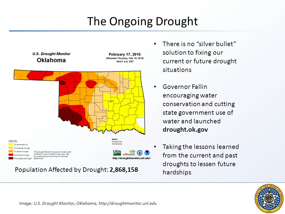 The Ongoing Drought There is no silver bullet solution to fixing our current or future drought situations.