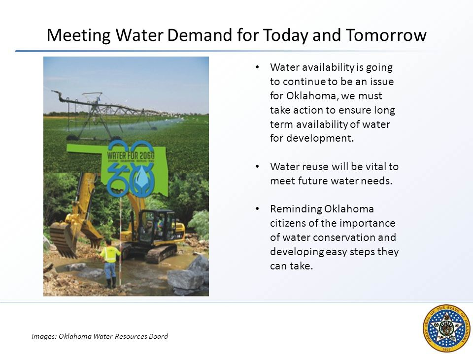 Meeting Water Demand for Today and Tomorrow